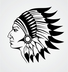 Indian Head vector image