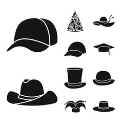 isolated object of beanie and beret logo vector image