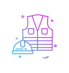 jacket helmet icon design vector image