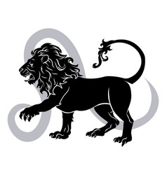leo zodiac horoscope astrology sign vector image