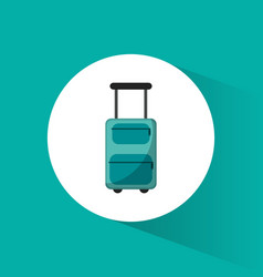 lugagge suitcase travel vacations vector image