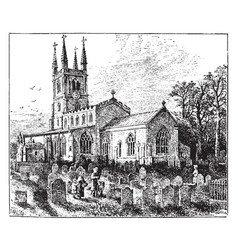 Lutterworth church vintage vector