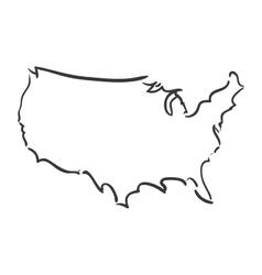 Map icon USA design graphic vector image