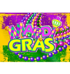 Mardi Gras flag vector