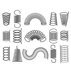 metal springs isolated on white vector image