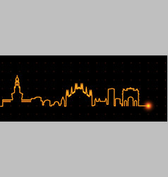 milan light streak skyline vector image