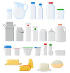 Milk pack empty glass jar glassware blank vector
