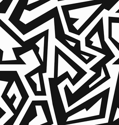 monochrome retro geometric seamless pattern vector image