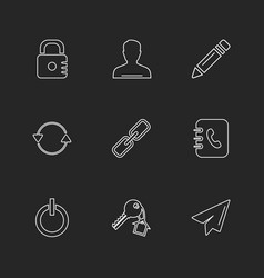 Multimedia sound buttons eps icons set vector