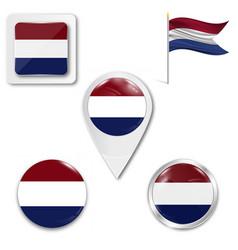 Netherlands flag flag emblem symbol vector