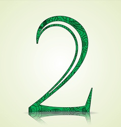 Number of Collection made of swirls - 2 vector image