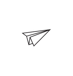 Paper plane graphic template vector