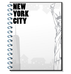 paper template with new york theme vector image