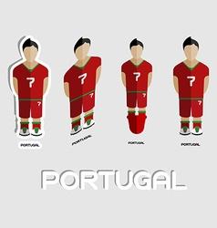Portugal soccer team sportswear template vector