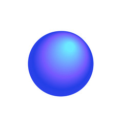 Realistic gradient round icon vector