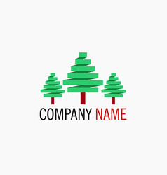 simple tree logo vector image