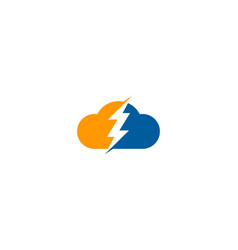 sky power logo icon design vector image