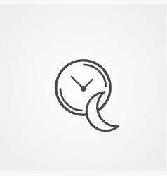 Sleeping time icon sign symbol vector
