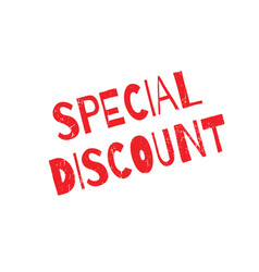 special discount rubber stamp vector image
