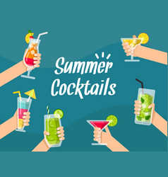 summer background with various vector image