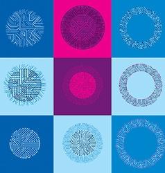 Technology communication cybernetic elements vector image