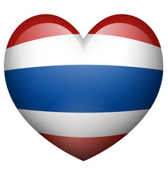 thailand flag in heart shape vector image