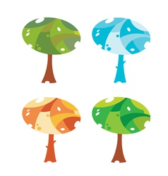 trees cute vector image