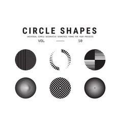 universal circle shapes set vector image