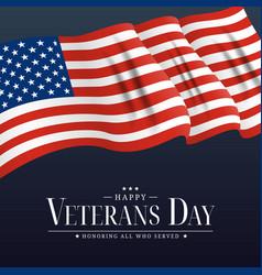 usa veterans day poster eps10 vector image