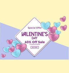 Valentines day card or sale banner 4 vector