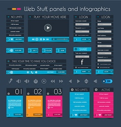 Web Design Stuff price panel and infographic vector