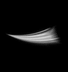 white wave form smoke spray vector image