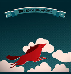 wild horse poster vector image