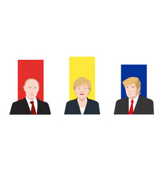 World leaders theme vector