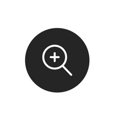 Zoom in icon vector