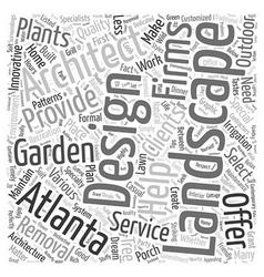 Atlanta landscape architect Word Cloud Concept vector image