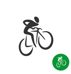 Bicyclist black silhouette logo vector image vector image