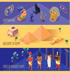 egypt banners set vector image