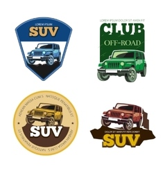 Off-road car emblems labels and logos vector image