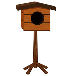 birdhouse made of wood vector image