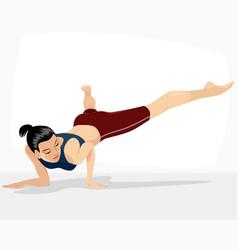 girl doing handstand vector image