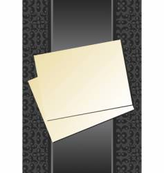 paper and ribbon vector image vector image