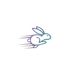 Rabbit logo design template Hare vector image