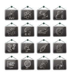 Research and Education Icons vector image vector image