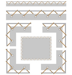 seamless border and corners to create a banner wit vector image vector image