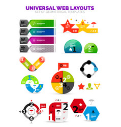 set of paper graphics - infographic or web box vector image vector image