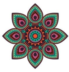 Ugadi mandala flower background vector image