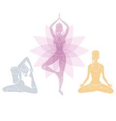 yoga womans vector image