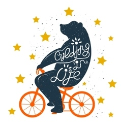 Bear on Bike vector image