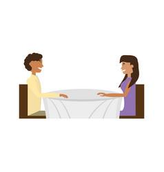 Couple love sitting romance image vector